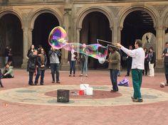 Bubbles! Central park #nyc #centralpark #amazing