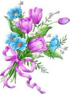 Imagens para Decoupagem: Flores para Decoupage