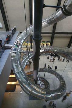 Installation view 'Unilever Series : Carsten Höller', Turbine Hall, Tate Modern, London 2006.
