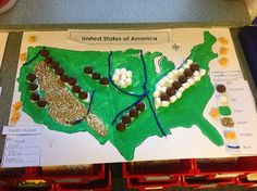 Map Of Us Landforms Five In A Row Grandfathers Journey - Map of us landforms
