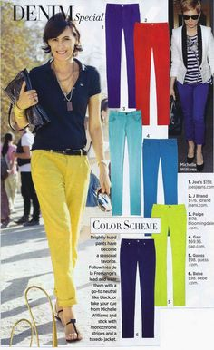 What to pair with colored pants