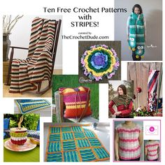 10 Free Crochet Patterns With Stripes