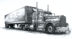 *Business For Sale* Very Well-Established Business! Seven Trucks And Trailers,All Contacts,Trailer & Vehicle Tires Are All Good & Everything Is Paid Off! Big Rig Trucks, Old Trucks, Semi Trucks, Trucker Tattoo, Cool Car Drawings, Demon Drawings, Truck Paint, Monster Truck Birthday, Car Sketch
