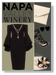 """Napa Valley Winery:  Best Dressed Guest"" by captainsilly ❤ liked on Polyvore featuring Louis Vuitton, Jimmy Choo, Dollydagger, napa, winerywedding, bestdressedguest and vineyardwedding"