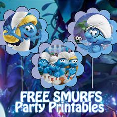 Smurfs Lost Village Birthday Party Printable Files | Daisy Celebrates!