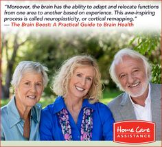 Did you know our brain has the ability to organize and reorganize information systems, and even reform links? Learn more about neuroplasticity in our book, The Brain Boost: A Practical Guide to Brain Health. #ENDALZ #GOPURPLE