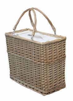 Insulated Tall Wicker Picnic Basket £38.00 - Eat & Drink - Food & Wine Coolers Beach bags | Beach towels | Windbreak | Beach chairs | Beach parasols | Beach Tents | Beach Toys | Deckchairs - The Seaside Company