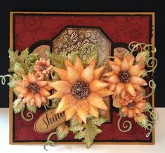 Sparkling Sunflowers by DJRants - Cards and Paper Crafts at Splitcoaststampers  #HeartfeltCreations Birthday Greeting Cards, Birthday Greetings, Sunflower Cards, Heartfelt Creations Cards, Easel Cards, Thanksgiving Cards, Christmas Cards, Falling Leaves, Felt Hearts