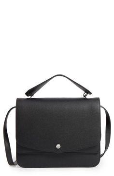 ELIZABETH AND JAMES ELIZABETH & JAMES ELOISE LEATHER SHOULDER BAG - BLACK. #elizabethandjames #bags #shoulder bags #hand bags #leather #