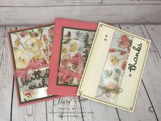 21 Cards, Easy Cards, Hand Stamped Cards, Beautiful Handmade Cards, Paper Artist, Pretty Cards, Flower Cards, Creative Crafts, Stampin Up Cards
