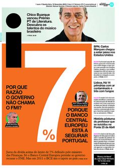 Portuguese Daily Named World's Best-Designed Newspaper - DesignTAXI.com - love the idea of a big number - great filler when not enough text...