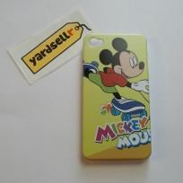 Brand New Mickey Mouse Series Skating Hard Case Shell with Transparent Frame for iPhone 4 4S