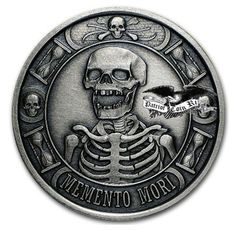Order 1 oz Silver Round - Memento Mori (Antique Finish) at APMEX or call Shop our large selection of Special Occasion (Silver Rounds & Bars) available online. Cherish Life, Dance Of Death, Wounded Warrior Project, The Last Laugh, Hobo Nickel, Coin Art, Coin Ring, Silver Rounds, 1 Oz