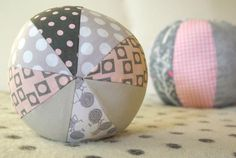 DIY Fabric Baby Beach Balls: Oleander + Palm
