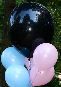 Items similar to Baby Gender reveal confetti balloon. Black balloons with confetti. Plus 3 pink and 3 blue balloons on Etsy Confetti Balloon Gender Reveal, Baby Gender Reveal Party, Confetti Balloons, Boy Photo Shoot, Birthday Wishes For Myself, Black Balloons, Baby Boy Photos, Reveal Parties, Baby Planning