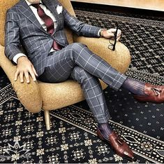Awesome charcoal gray suit