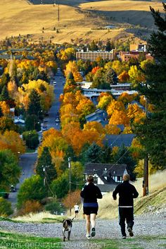 Running in Missoula in the Fall. Photo by Paul Queneau. http://www.makeitmissoula.com/photo-gallery/missoula-photos/missoula-montana-photos/