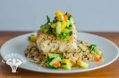 20-min Date Night Meal: Grilled Sea Bass, Wild Rice & Pineapple Salsa | Fit Men Cook