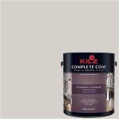 Kilz Complete Coat Interior/Exterior Paint & Primer in One #RJ250 Barely Mocha, 1 gal, Flat, Brown