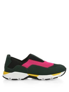 MARNI Colour-Block Slip-On Trainers. #marni #shoes #sneakers