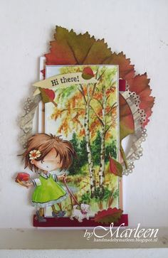 DT card made by Marleen Clearstamps: EC0152 (Eline's Sweet sentiments) Collectables: COL1325 (gebruikt voor de Banner) Craftables: CR1331 (Basic - Round) - CR1336 (Punch die - autumn leaves) Creatables: LR0375 (Tiny's tree and leaf) Knipvellen: DDK3209 (Don & Daisy 1) - IT579 (Tiny's autumn) Ribbons: JU0951 (Victorian Christmas) Pretty Papers blocs: PK9124 (rustic wood) - PK9127 (Watercolor)