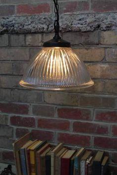 Como Glass Shade Pendant | Vintage Holophane Glass Pendant Lights | Fat Shack Vintage