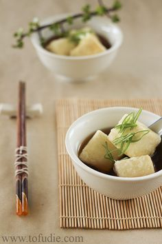 Agedashi Tofu [Tofudie] // Yay, finally a fish-free version of this!