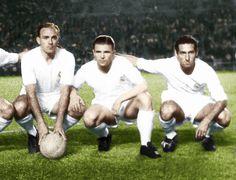 Alfredo Di Stefano, Francisco Gento et Ferenc Puskas au Real Madrid