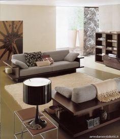 Divano moderno con libreria nella parte posteriore roma - divani ...
