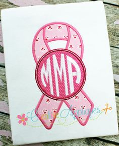 Monogram Awareness Support Ribbon Digital Machine Embroidery Applique Design 4 sizes on Etsy, $3.99
