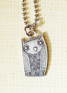 Metal owl necklace by boygirlparty, a little simple necklace to wear every day. $20 at http://shop.boygirlparty.com?utm_content=buffer63970&utm_medium=social&utm_source=pinterest.com&utm_campaign=buffer #owl #necklace
