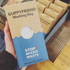 Guppy Bag: use in your laundry to keep plastic fibers from your clothes out of t… - diy clothes Recycling Ideen Genius Ideas, Water Time, Waste Reduction, No Waste, Reduce Waste, Reuse Recycle, Natural Cleaning Products, Fibres, Sustainable Living