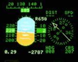 MFD mit künstlichem Horizont und Kompass für eine Bell UH-1Y / AH-1Z. Diese Software wird in Zukunft mit einem echten GPS verbunden werden können. Dann stellt die Software reale Daten dar.