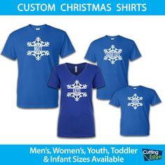 Personalized Snowflake Christmas Shirt, Personalized Christmas Onesie, Family Christmas Shirt, Infant Toddler Youth Christmas Shirt