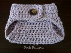 Crochet Pattern Button Up Diaper Cover Soaker