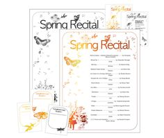 Spring recital template from ComposeCreate.com | Includes recital compliment cards, editable program, editable invitation | #recital #invitation #compliment #card #spring #springrecital #pianorecital #piano #recitalprogram
