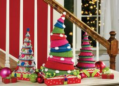 felt stack trees from Make it Fun