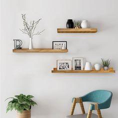 Floating Shelf Decor, Wall Shelf Decor, Room Wall Decor, Living Room Decor, Decorative Wall Shelves, Modern Floating Shelves, Cute Wall Decor, Wood Shelf, Office Wall Decor