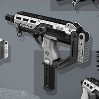 pathfinders assault rifle with attachments - done for goldhawk interactive by rmory studios