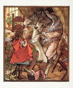 Trina Schart Hyman Charles Perrault, Red Ridding Hood, Classic Fairy Tales, Big Bad Wolf, Fairytale Art, Children's Book Illustration, Art Illustrations, Red Hood, Little Red