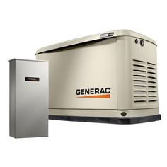 Generac Guardian WIFI Enabled 10000-Watt (LP)/9000-Watt (NG) Standby Generator with Automatic Transfer Switch in the Home Standby Generators department at Lowes.com Portable Generator, Power Generator, Gas Generator, Transfer Switch, Protecting Your Home, Panel Doors, The Guardian, 6 Years, Home