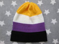 Hey, I found this really awesome Etsy listing at https://www.etsy.com/listing/527881857/knit-pride-hat-nonbinary-pride-slouchy