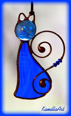 Collection of the best things Stained Glass Angel, Stained Glass Ornaments, Stained Glass Suncatchers, Stained Glass Designs, Stained Glass Projects, Stained Glass Patterns, Leaded Glass, Mosaic Glass, Cat Decor