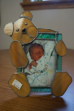Baby's Picture Frames by StainedGlassbyBetty on Etsy