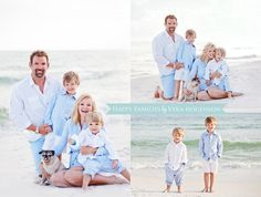 Light blue and white is really soft and beautiful. Family Beach Portraits, Family Beach Pictures, Family Posing, Beach Picture Outfits, Family Picture Outfits, Beach Poses, Beach Shoot, Beach Photography, Family Photography