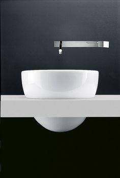 Round single Corian® washbasin I FIUMI | Round washbasin - Boffi
