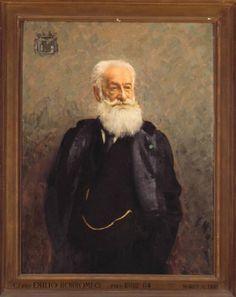 Ritratto di Emilio Borromeo (1829-1909) - Mario Acerbi (1887-1982). Olio su tela, 1941, Raccolte d'arte dell'Ospedale Maggiore, Milano. Il conte Emilio fu Presidente dell'Ospedale Maggiore dal 1882 al 1884. http://www.lombardiabeniculturali.it/opere-arte/schede/3n070-00108/