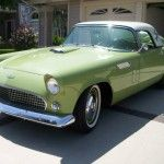 '56 Thunderbird with removable circle window hardtop..