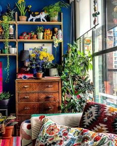 Bohemian Living Rooms, Eclectic Living Room, Eclectic Decor, Bohemian Decor, Living Room Decor, Bedroom Decor, Eclectic Style, Uni Bedroom, Boho Room