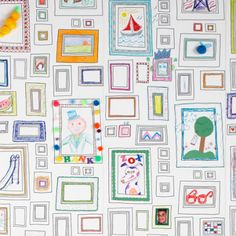 Wallpaper to draw on (or tape drawings on)--I would put this above my 1/2 wall of chalkboard paint!